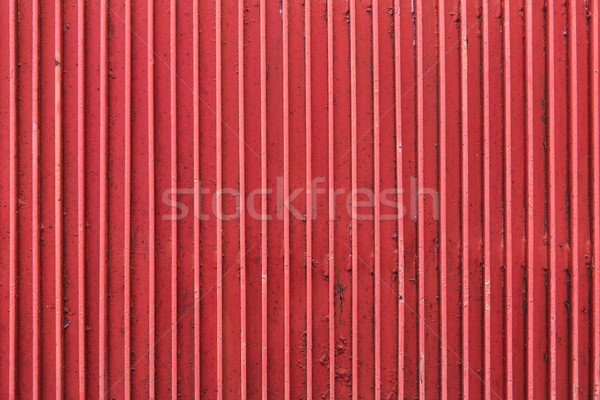 close up of old painted metal ribbed surface Stock photo © dolgachov