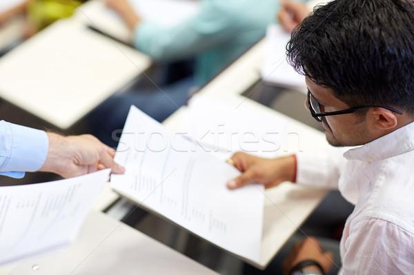 Tanár vizsga teszt diák előadás oktatás Stock fotó © dolgachov