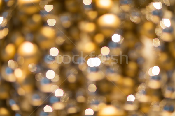 golden christmas decoration or garland lights Stock photo © dolgachov