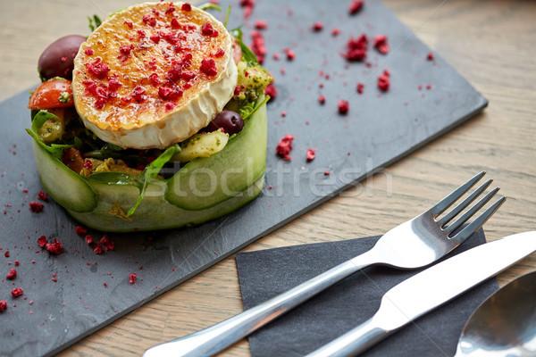 ヤギ乳チーズ サラダ 野菜 レストランの食べ物 料理の ストックフォト © dolgachov