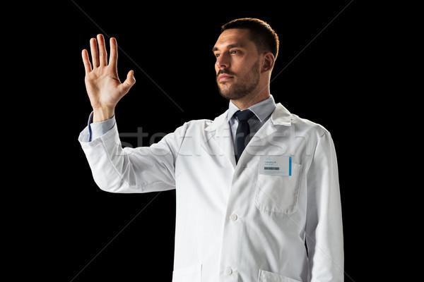 Orvos tudós fehér kabát gyógyszer tudomány Stock fotó © dolgachov