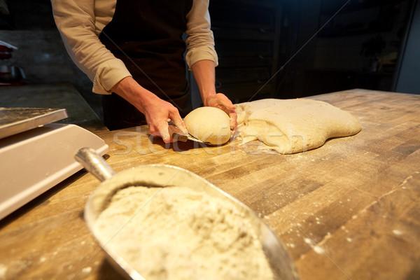 Baker panchina panetteria alimentare cottura cottura Foto d'archivio © dolgachov