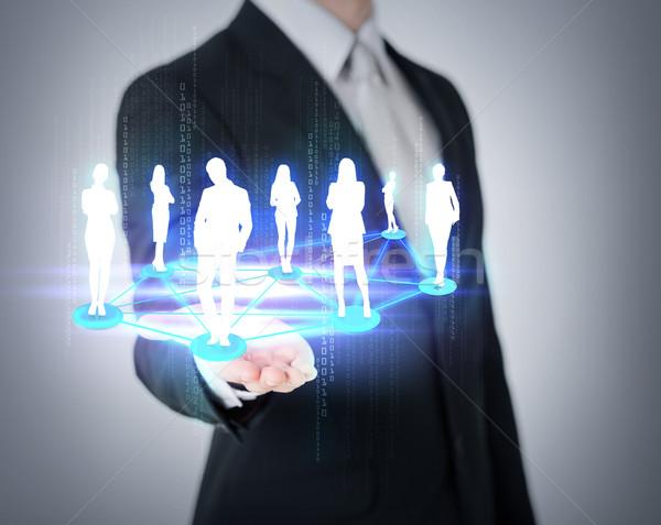 стороны социальной Бизнес-сеть бизнеса Сток-фото © dolgachov