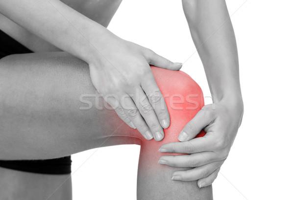 женщины рук колено фитнес Сток-фото © dolgachov
