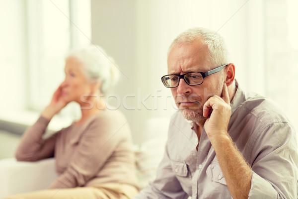 Stockfoto: Vergadering · sofa · home · familie · betrekkingen