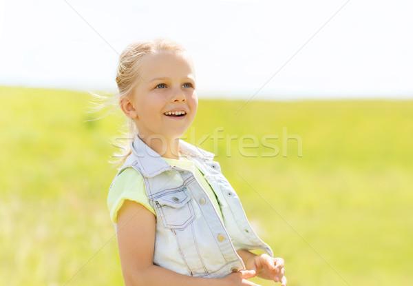 Feliz nina aire libre verano infancia ocio Foto stock © dolgachov