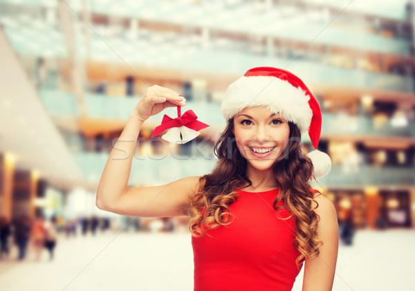 Sorrindo ajudante seis natal férias Foto stock © dolgachov