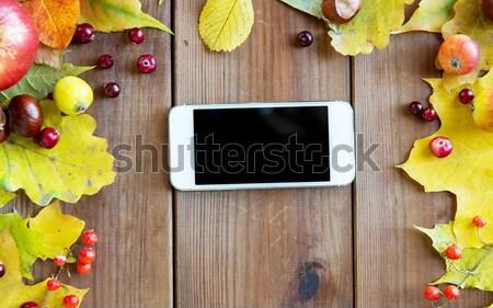 Stockfoto: Smartphone · vruchten · bessen · seizoen · advertentie