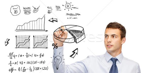 Rajz terv virtuális képernyő üzlet közgazdaságtan Stock fotó © dolgachov
