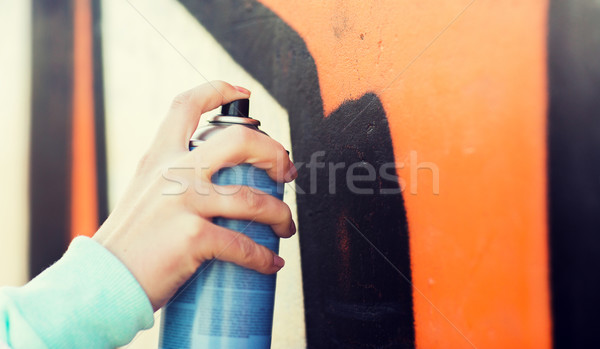 Mano dibujo graffiti pintura en aerosol personas Foto stock © dolgachov