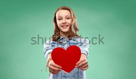 Maschio gay Coppia rosso cuore Foto d'archivio © dolgachov