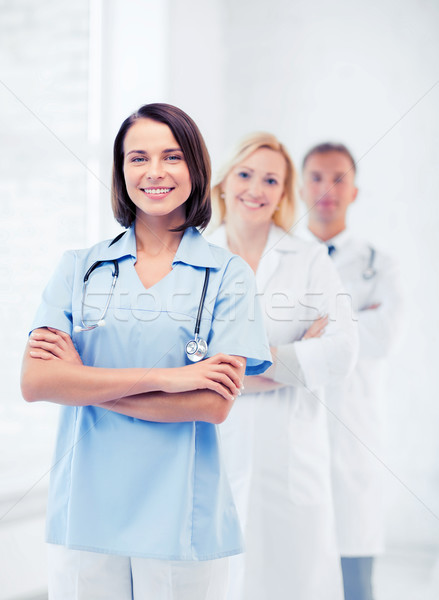 group of medical workers Stock photo © dolgachov