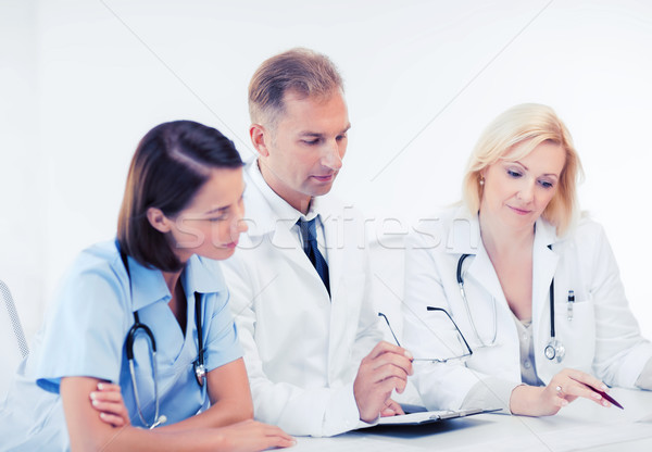 Сток-фото: команда · группа · врачи · заседание · здравоохранения · медицинской