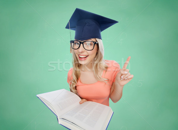 étudiant femme encyclopédie personnes éducation connaissances Photo stock © dolgachov