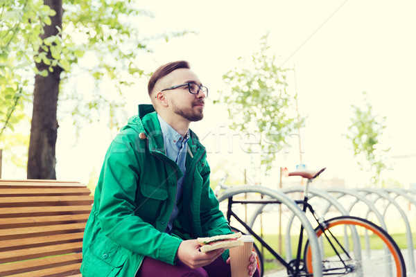 счастливым молодые человека зафиксировано Gear Сток-фото © dolgachov