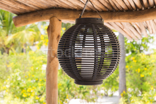 lantern hanging under shed roof Stock photo © dolgachov