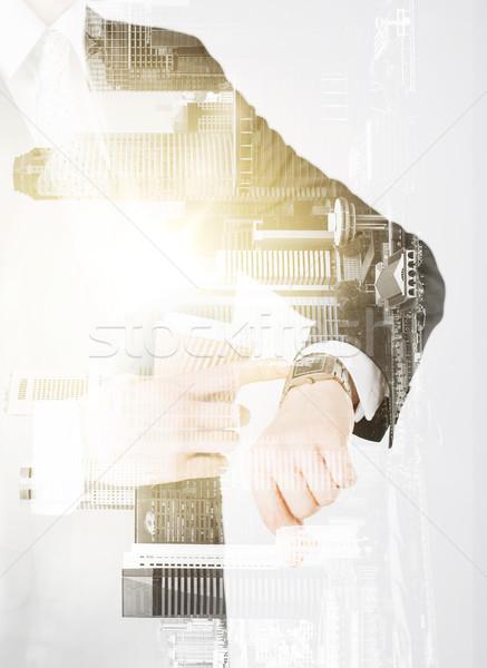 Empresário café pessoas negócio Foto stock © dolgachov