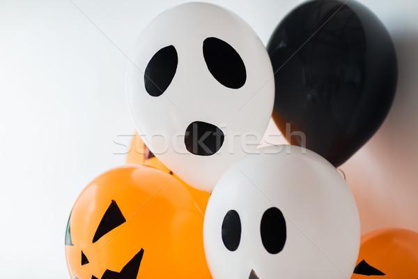 Scary aria palloncini decorazione halloween party Foto d'archivio © dolgachov