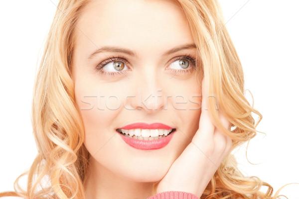 Photo stock: Pensive · femme · lumineuses · photos · belle