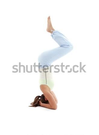 salamba sirsasana supported headstand #2 Stock photo © dolgachov
