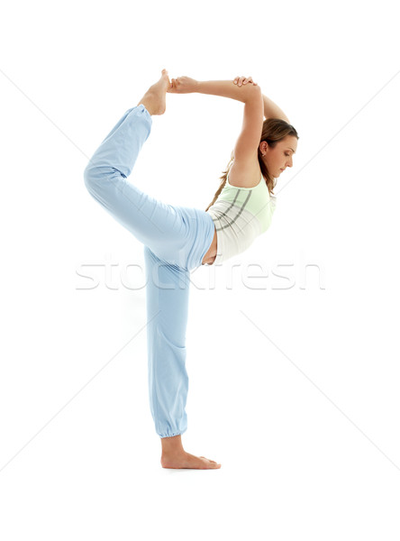 natarajasana lord of the dance pose Stock photo © dolgachov
