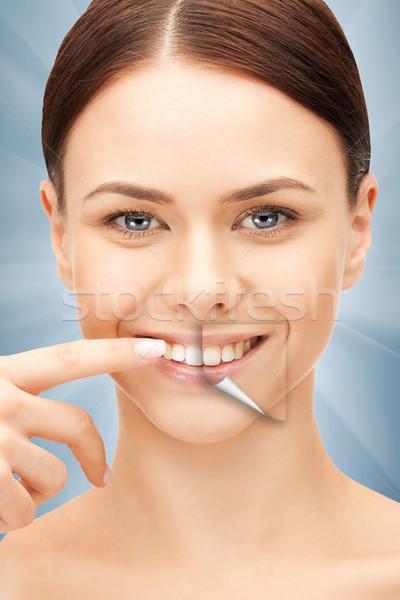 woman with white teeth Stock photo © dolgachov