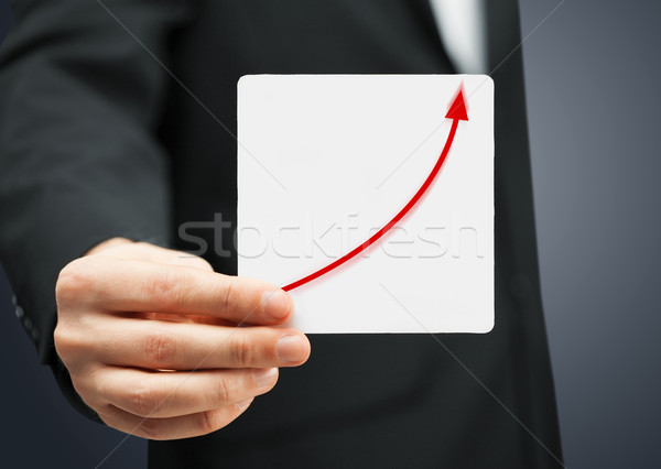 card with increasing graph on it Stock photo © dolgachov
