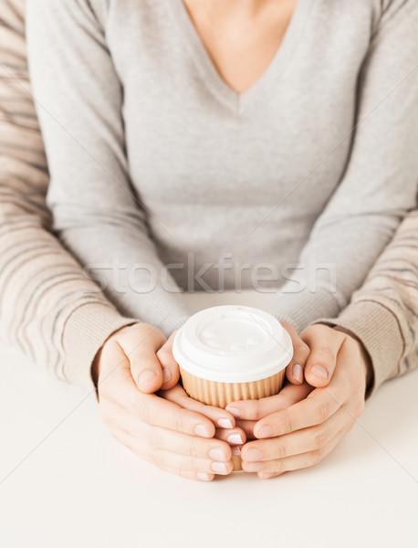Сток-фото: женщину · человека · далеко · чашку · кофе · рук