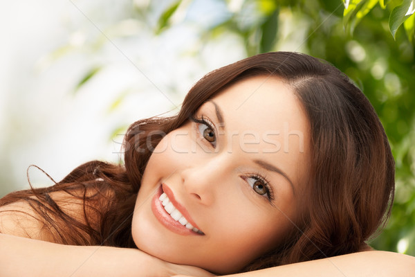 beautiful woman on nature Stock photo © dolgachov