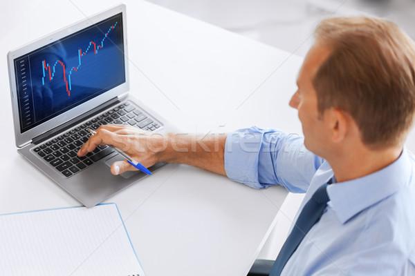 ビジネスマン 作業 外国為替 グラフ オフィス ビジネス ストックフォト © dolgachov