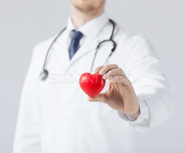man hands with heart Stock photo © dolgachov
