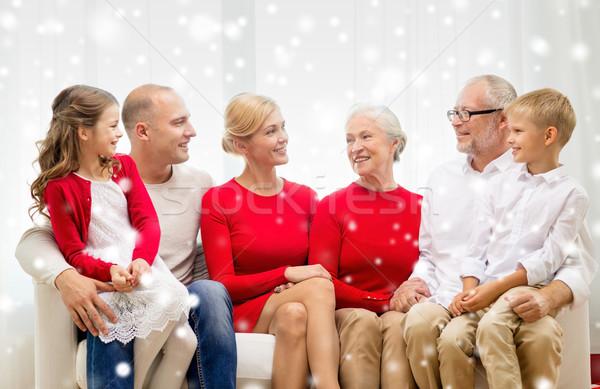 Sorridente casa da família família férias geração natal Foto stock © dolgachov