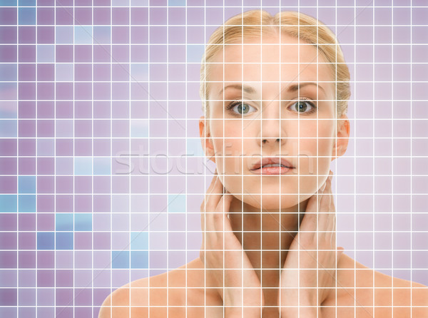 Mooie jonge vrouw nek schoonheid mensen gezondheid Stockfoto © dolgachov