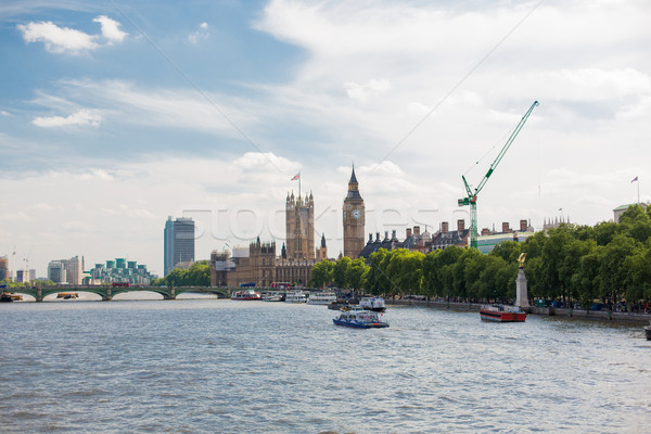 Stock photo: Houses of Parliament and Westminster bridge