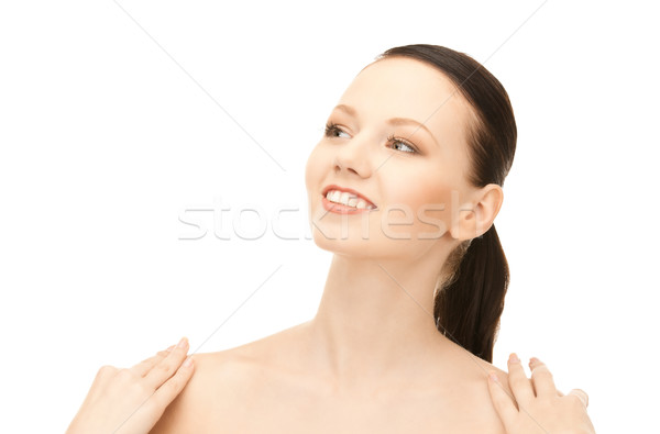 Vrouw heldere foto witte gezicht schoonheid Stockfoto © dolgachov