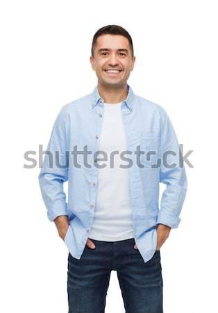 улыбаясь человека рук счастье люди бизнеса Сток-фото © dolgachov