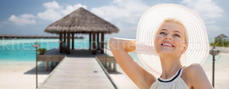 Bela mulher verão exótico praia pessoas Foto stock © dolgachov