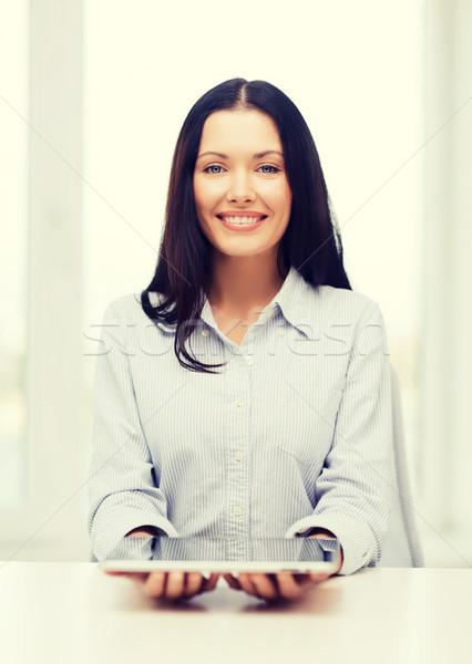 Işkadını öğrenci iş eğitim teknoloji Stok fotoğraf © dolgachov