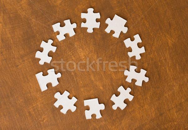 Peças do puzzle superfície negócio conexão Foto stock © dolgachov
