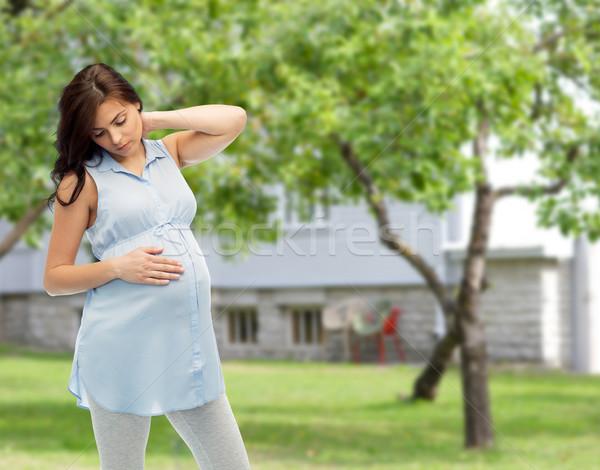 Hamile kadın gebelik sağlık insanlar dokunmak Stok fotoğraf © dolgachov