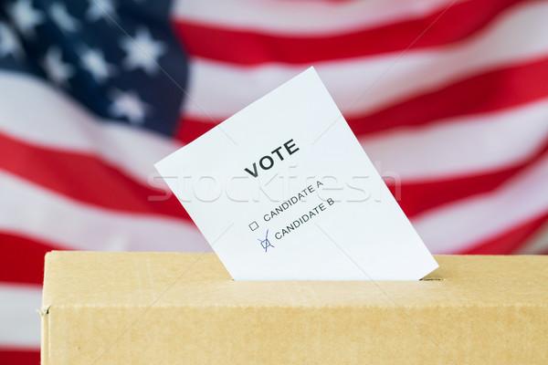Stemming stemmen vak sleuf verkiezing Stockfoto © dolgachov