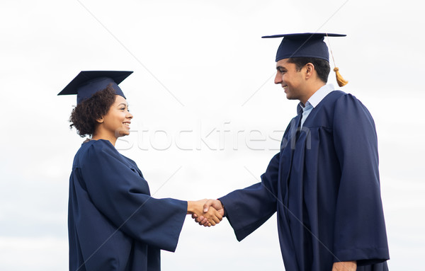 Mutlu Öğrenciler lisans tebrik diğer eğitim Stok fotoğraf © dolgachov