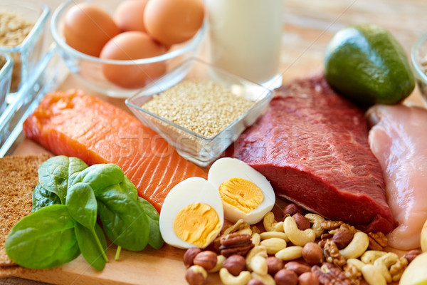 natural protein food on table Stock photo © dolgachov