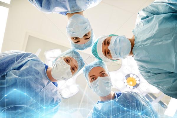 Gruppo chirurghi sala operatoria ospedale chirurgia medicina Foto d'archivio © dolgachov