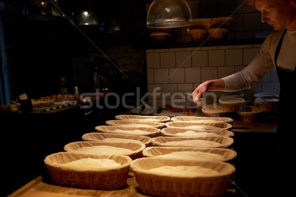Baker panetteria alimentare cottura cottura Foto d'archivio © dolgachov