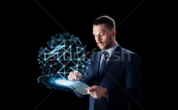 бизнесмен низкий проекция деловые люди сеть Сток-фото © dolgachov