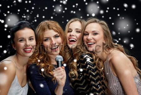 счастливым Новый год ночь праздников люди Сток-фото © dolgachov