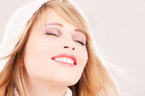 Foto stock: Quadro · mulher · cabelo · adolescente · jovem