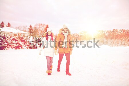 white angel on high heels with snowflakes #4 Stock photo © dolgachov