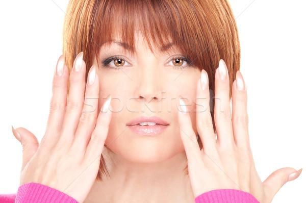 женщину рук полированный ногти фотография Сток-фото © dolgachov